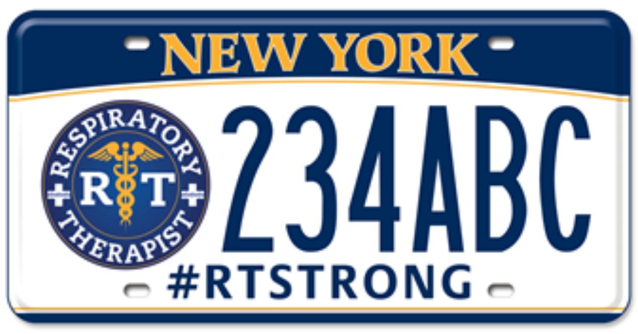 NY RT License Plate